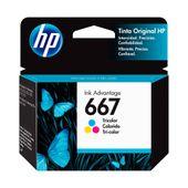 Cartucho HP 667 Tri Color