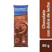 Chocolate Carrefour relleno con dulce de leche 80 g.