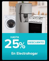hasta 25% en electrohogar
