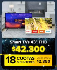 """Todos los Smart TV's 43"""""""