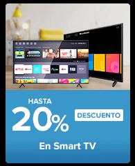 hasta 20% en smart tv